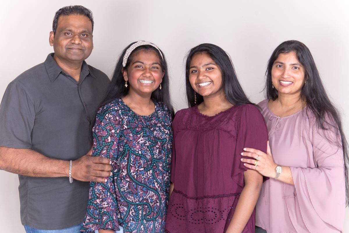 Brintha Devadoss and family