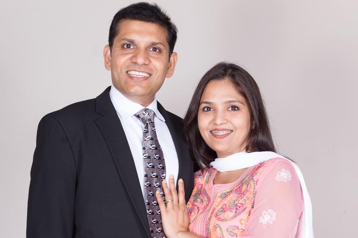 Niha Raiborde and Pastor Parimal