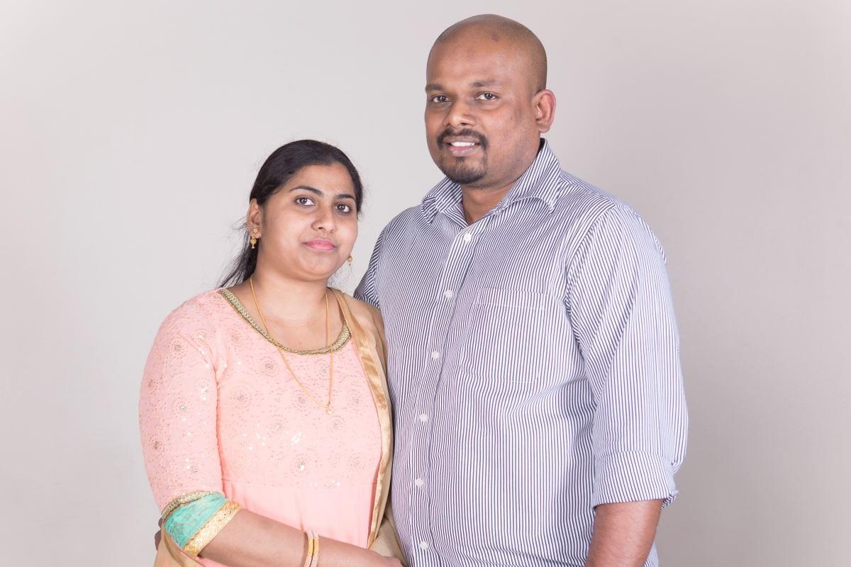 Priya John and husband Robin