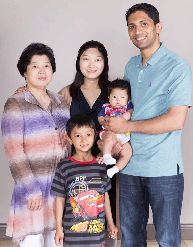 Sofia George and family