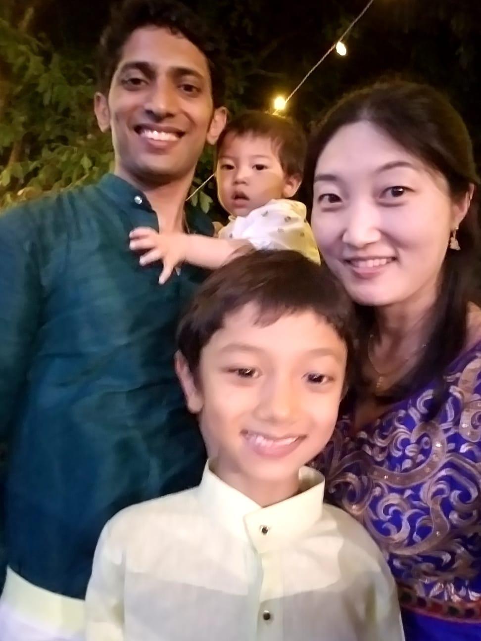 Smitha Benjamin Family